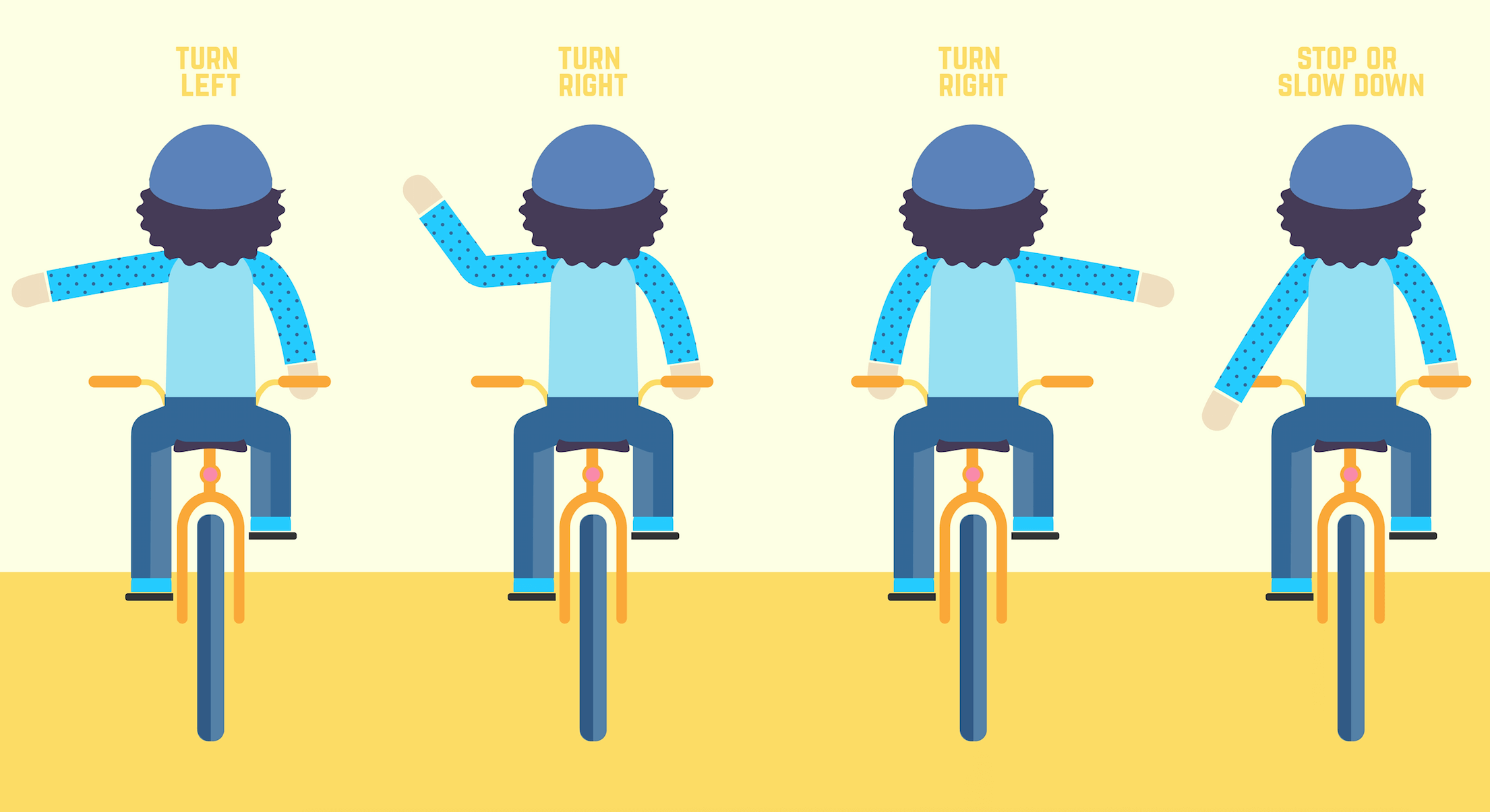 hand signals for cyclists